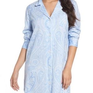 RALPH LAUREN BLUE PAISLEY NIGHT SHIRT